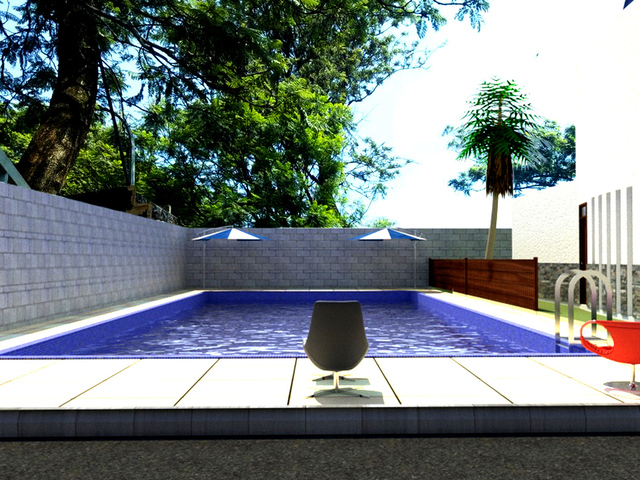 Outdoor 3d render
