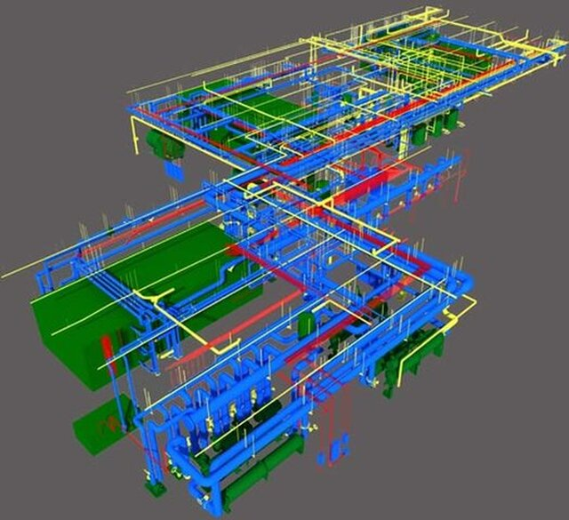 Point Cloud BIM Modeling Services Singapore - Steel Construction Detailing