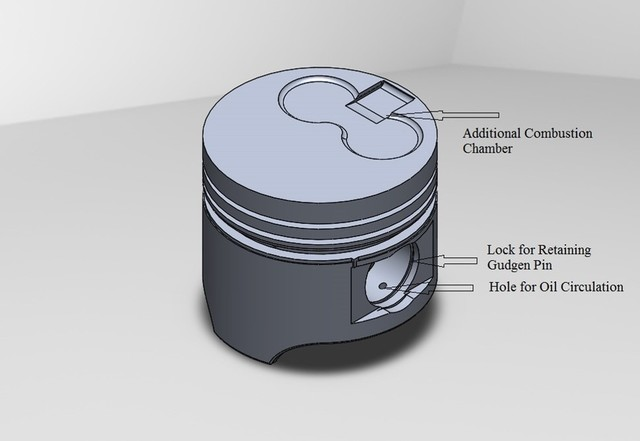 Designing of a of Diesel Engine Piston in Solidworks.