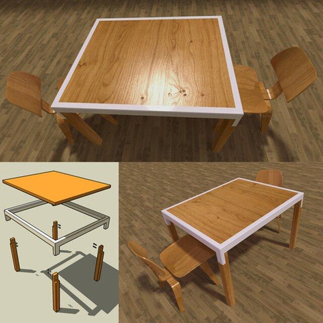 tavolo smontabile in legno