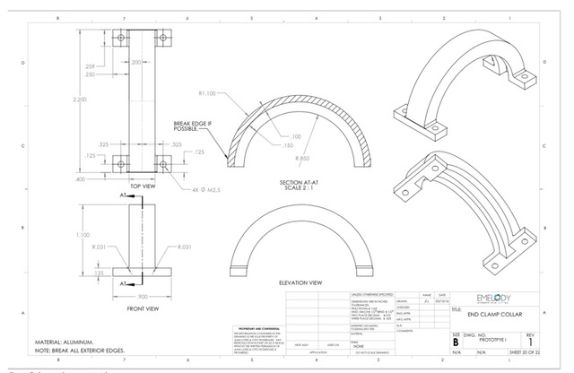 Clamp Drafting Annotations