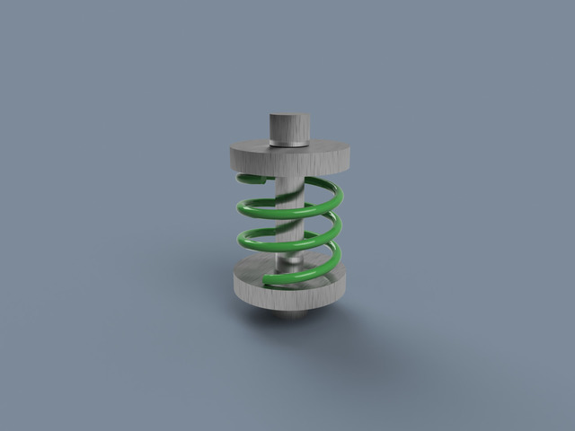Shock Spring which acts dynamically in Fusion 360