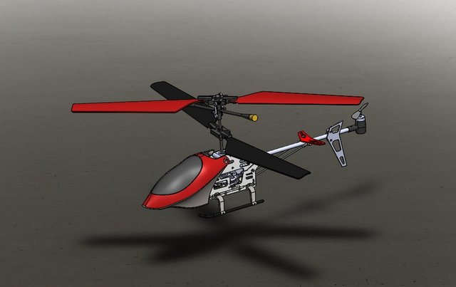 RC helicopter Solidworks 3D modelling