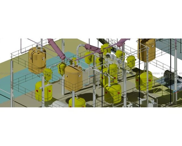 WASTE LUBE OIL RECYCLING PLANT 3D