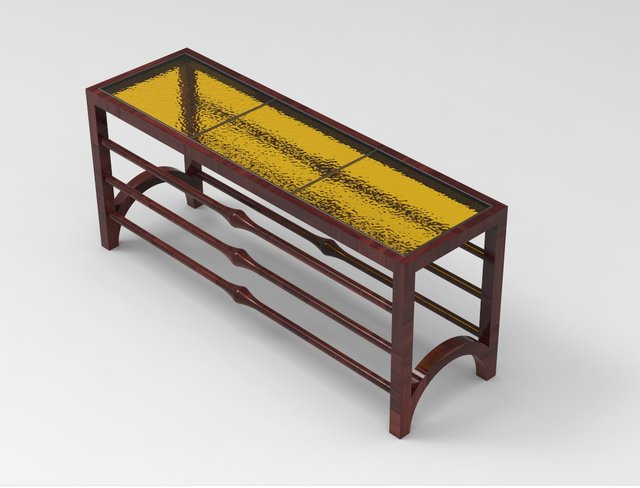 Stained Glass Book Table