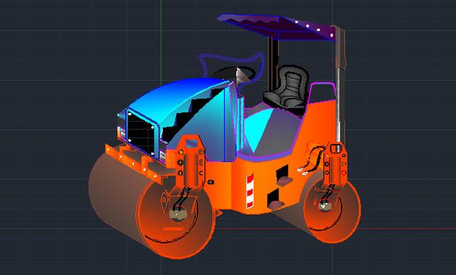 ROAD ROLLER (Auto CAD)