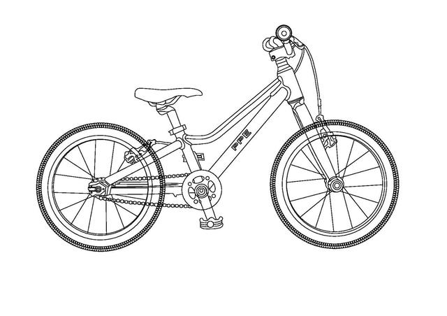 auto cad 2D bike-model