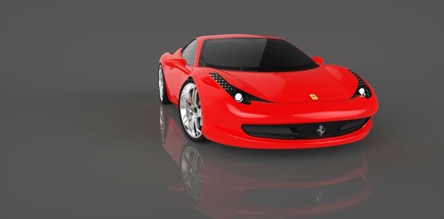 Catia Modeling & Keyshot Render (Ferrari 458 Italia) by Hüseyin EROĞLU