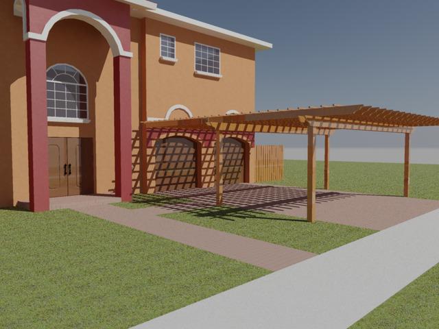 Pergola design and rendering