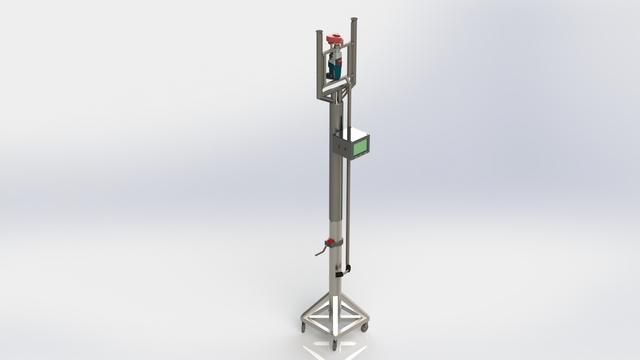 Ceiling drilling machine