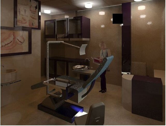 Interior of Dentist Clinic in revit Architecture Software