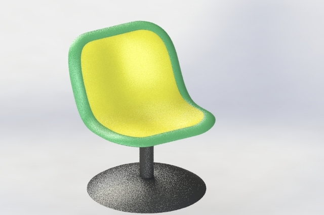 plastic chair made by solidworks