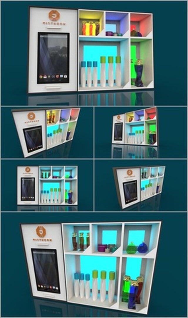 3D Design an display wall mount