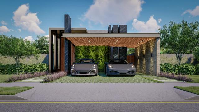 3D Render - Small House Facade