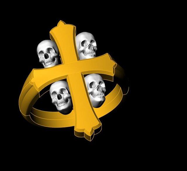 skull-cross-ring