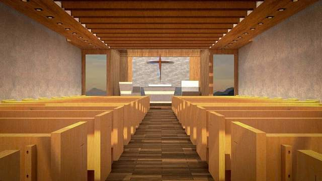 Interior Design of a Modern Chapel