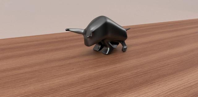 Bull Figurine on Table
