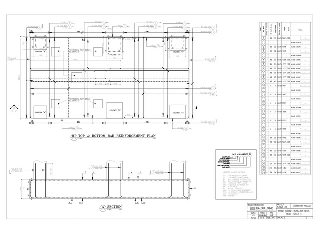 Rebar detailing with bar bending schedule