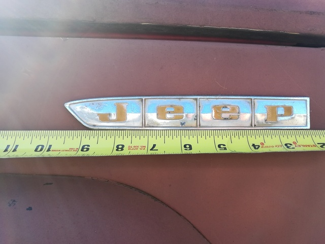 1966 Jeep side badge