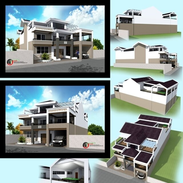 EXTERIOR RESIDENTIAL HOUSE DESIGN