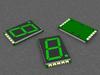 Single Digit 7-segment green LED Display