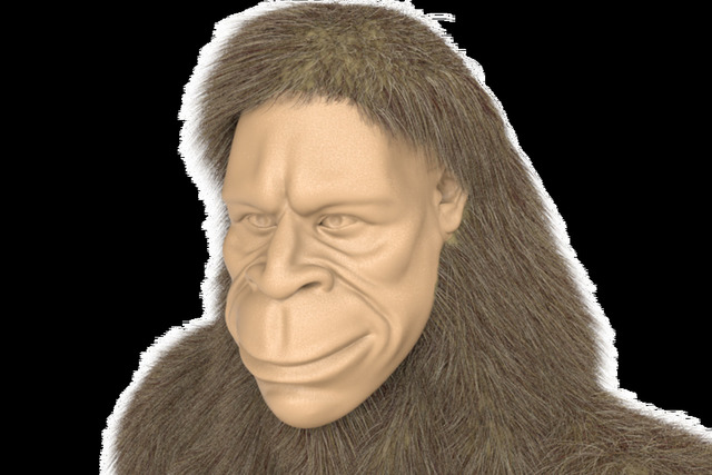 Bigfoot 3d modeling for product logo.  Canna-oils.