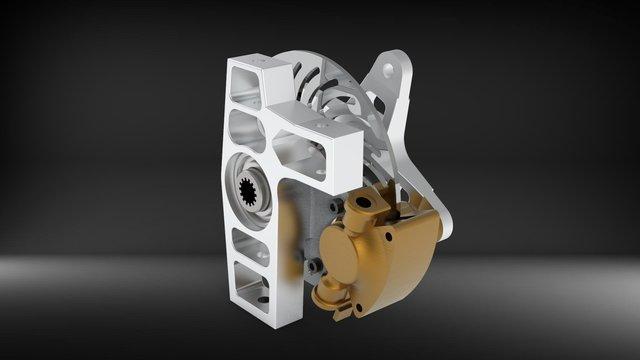 Automotive Knuckle/Wheel Assembly