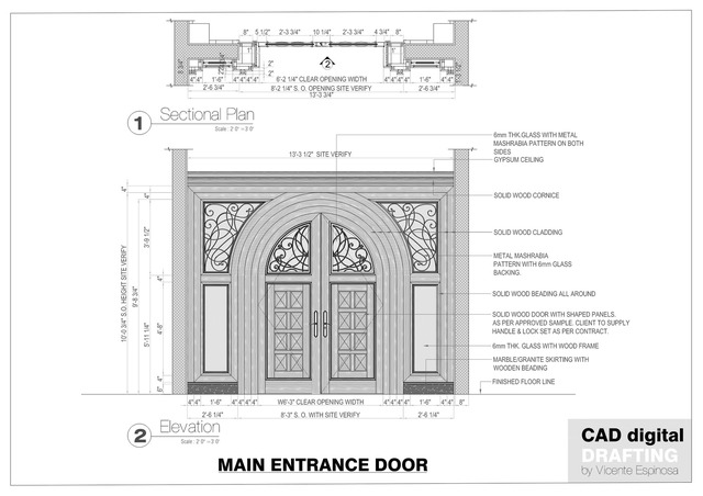 CAD Digital Drafting Samples