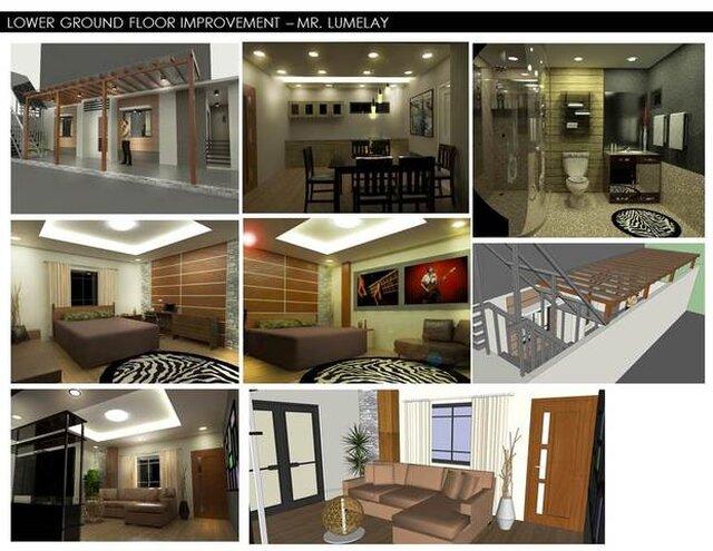 Lower Ground Floor improvement at Baguio City, Philippines