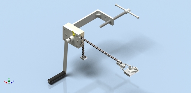 machine for tensioning the wire