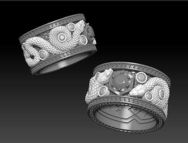 3d model jewelry set