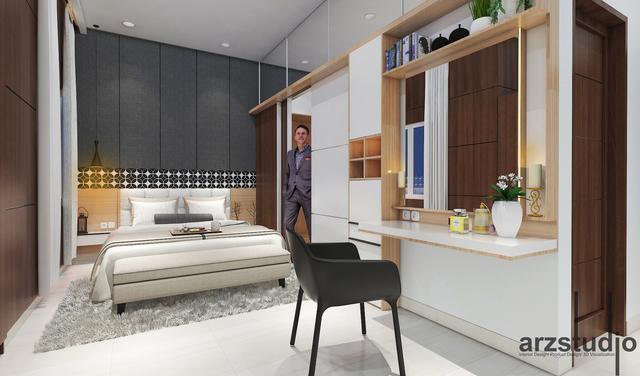 modern bedroom design concept