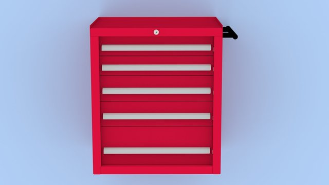 Five Drawer working Tool trolley