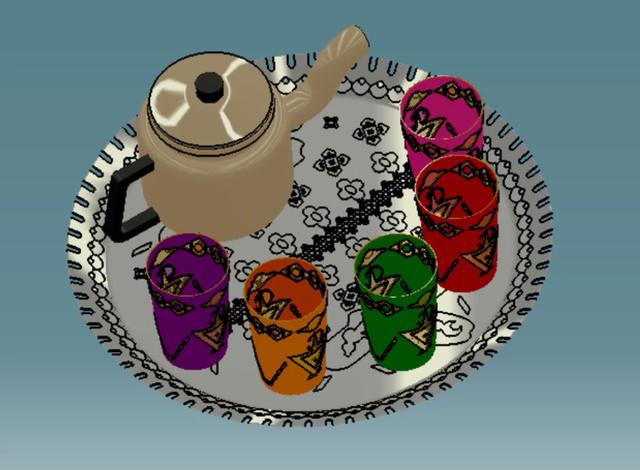 Moroccan tea setting