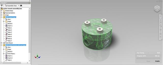 3D Printed Mount for Optical Interruptor