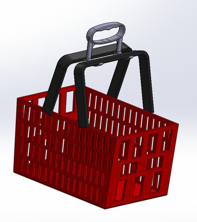 3D Printable Grocery Basket Hook for Covid-19