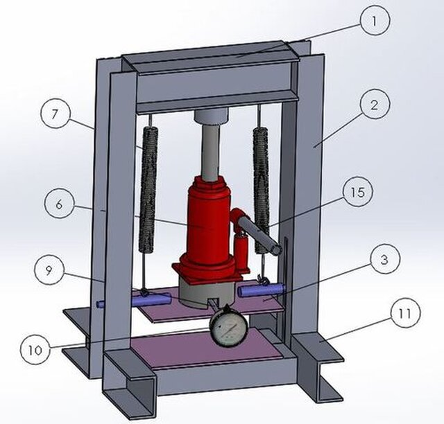 Compressive strength testing machine for clay bricks