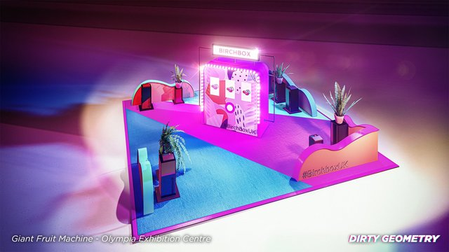 Exhibition stand for beauty brand