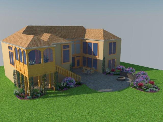 Patio and deck landscape design