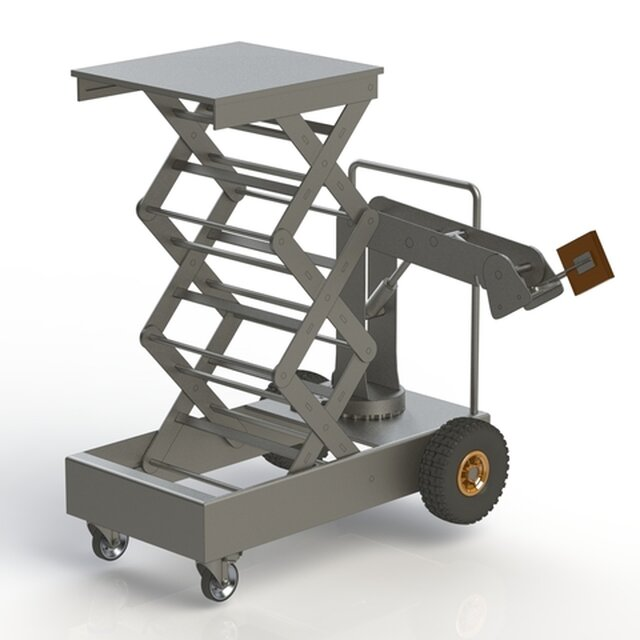 SCISSOR LIFT + HYDRAULIC ROBOTIC ARM