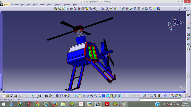 Cad Design on Catia V5 of a Helicopter
