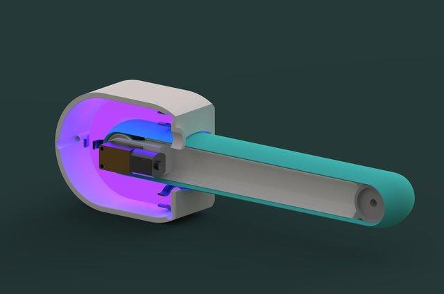 Self sanitizing UV door handle