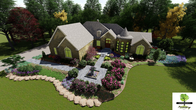 Front Landscape Design 3d Render Download Free 3d Model By