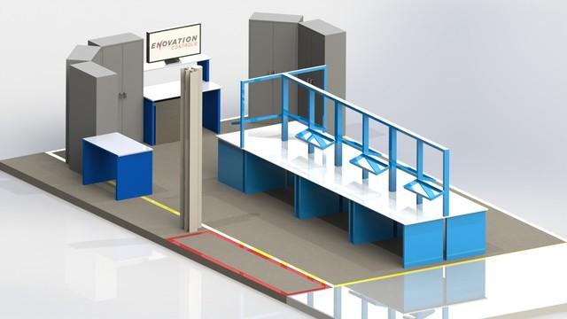 3D design of manufacturing enviroment