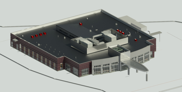 Revit BIM Modeling of Medical Facility Building in the USA