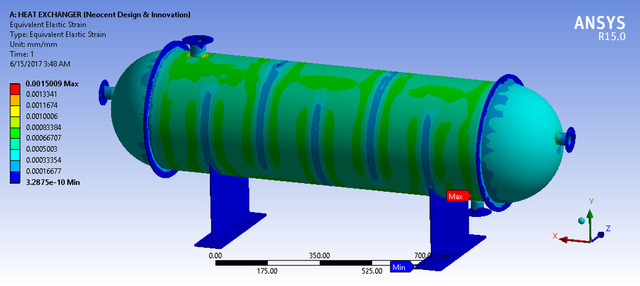 FEA optimization on shell and tube type Heat Exchanger