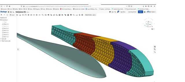 Mold Backing Feature for 1/2 Scale Sailplane Fuselage