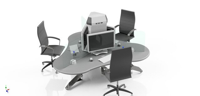 Covid-19 Office Desk Concept