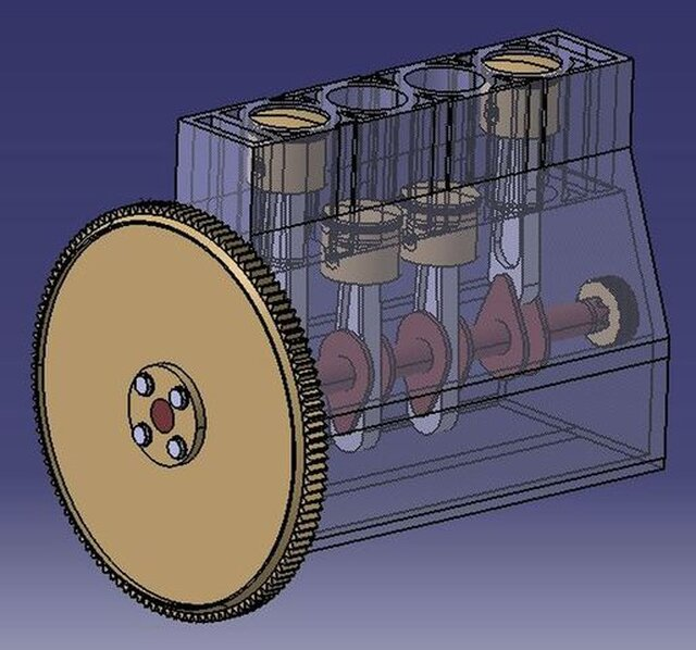 4-cylinder in-line engine