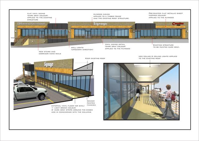Mall fazade renovation - Wisconsin USA